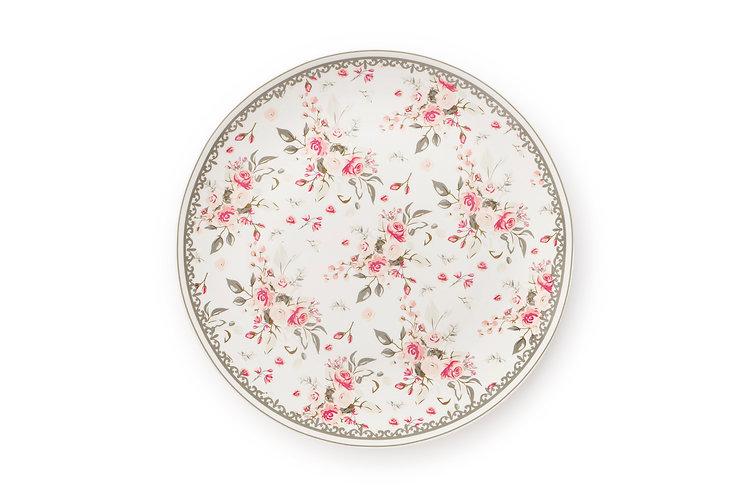Sophie - Piatto roselline fondo bianco