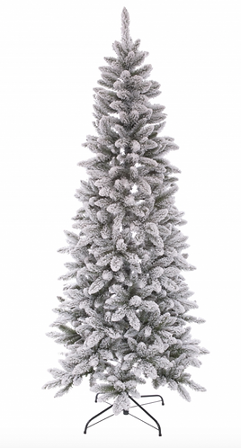Winter Time - Abete slim innevato 180cm.