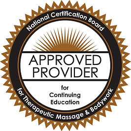Approved provider seal from NCBTMB