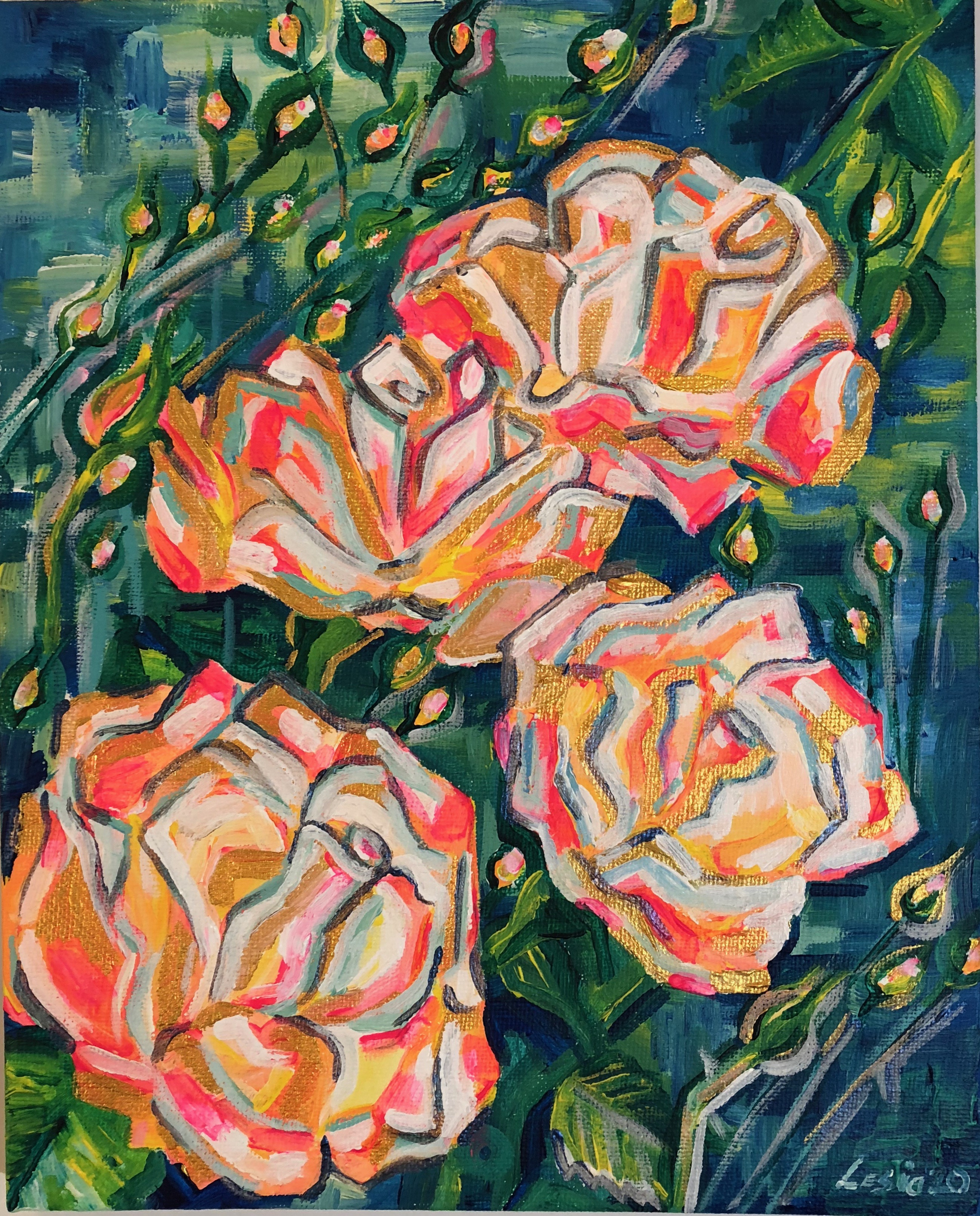 Roses étude abstraite