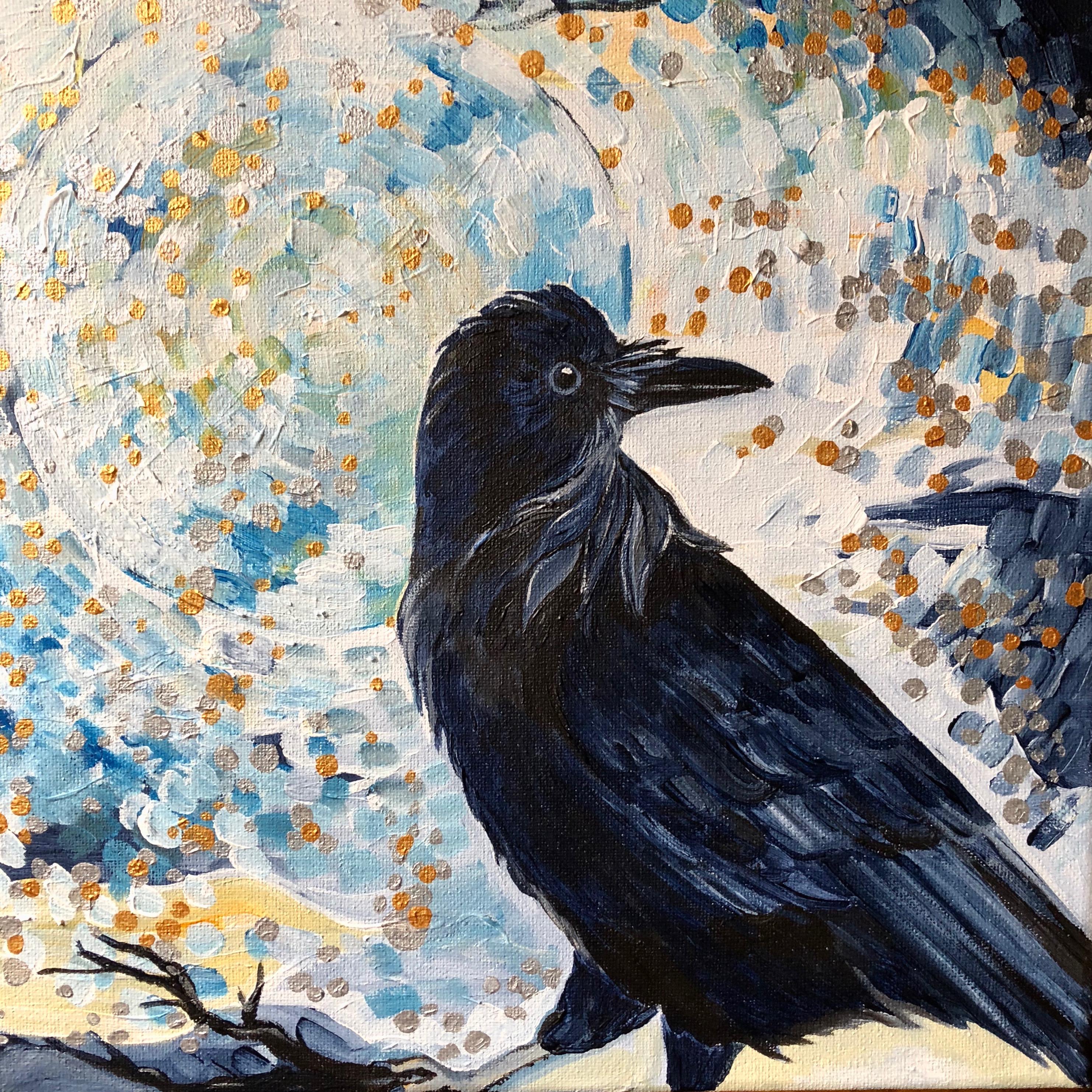 Le corbeau et la lune bleue