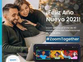 Celebra Año Nuevo 2021 con reuniones ilimitadas #ZoomTogether: