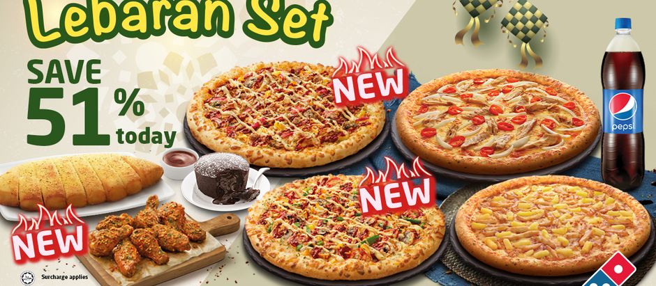 Celebrate Raya Safely at Home with Domino's Pizza