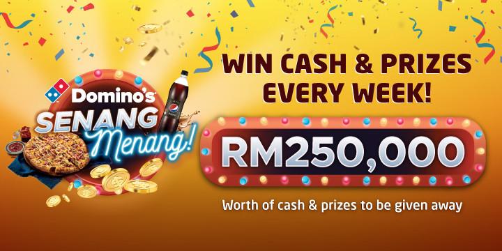 Domino's spreads joy with Senang Menang Contest