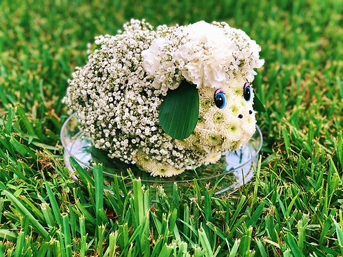 Cute Sheep Flower Toy