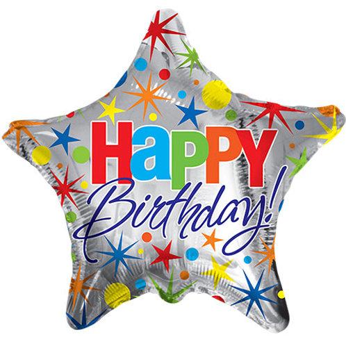 """Happy Birthday"" Star Balloons"