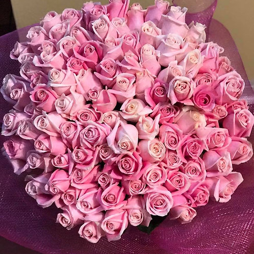 100 Rose Roses - Premium Bouquet