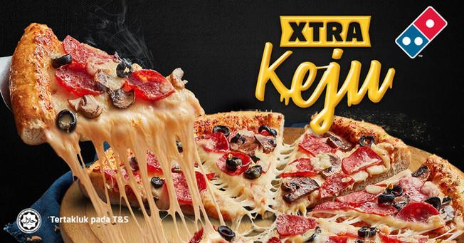Lebih Banyak Keju Dengan Domino's Pizza Xtra Keju!