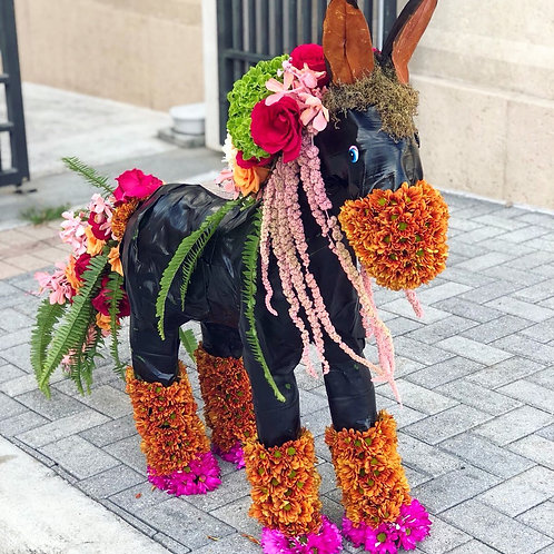 Flower Horse Topiary Sculpture