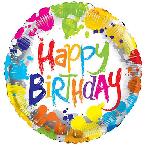 "Tie Dye ""Happy Birthday"" Balloon"