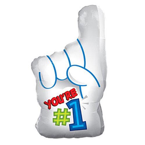 """""""You're # 1"""" Finger Balloon"""