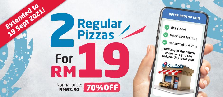 Daftar Vaksin Sekarang dan Dapatkan Promosi Piza Dengan Kempen Vaksin Domino's Pizza Malaysia!