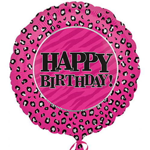 "Pink ""Happy Birthday"" Balloon"
