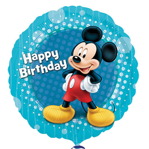 "Blue Mickey Mouse ""Happy Birthday"" Balloon"