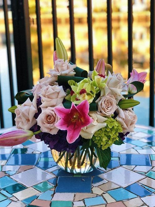 Sunset Flowers Centerpiece