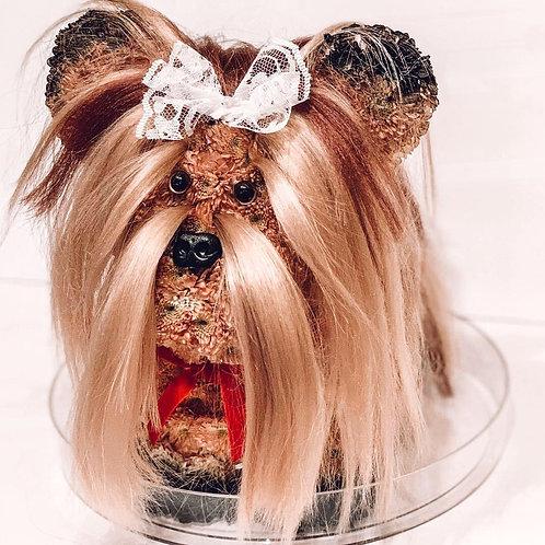 Yorkie Dog Flower Toy