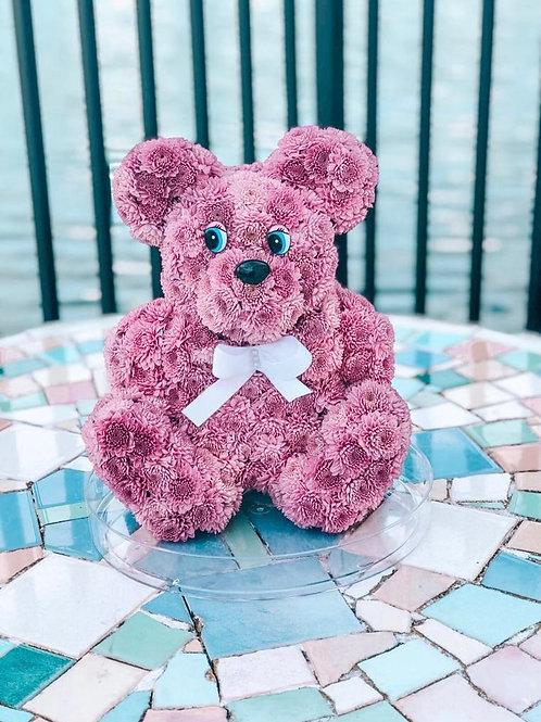 Pink Teddy Bear Flower Toy