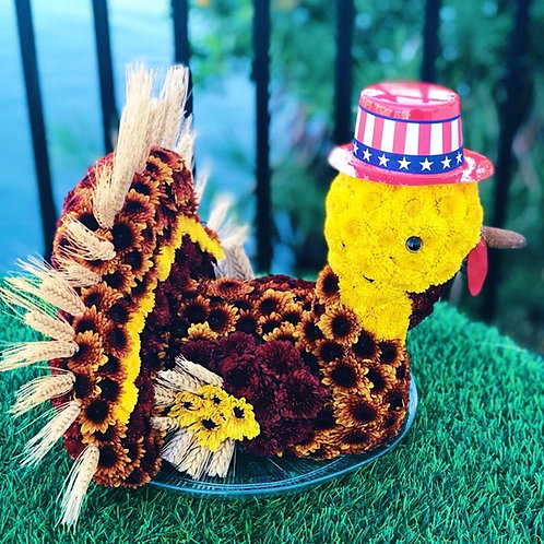 Turkey Flower Toy - Thanksgiving Centerpiece