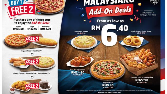 Promosi MalaysiaKu di Domino's: Sambutan Hari Merdeka dan Hari Malaysia 2021 dengan Tawaran Hebat