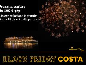 Black Friday con Costa Crociere