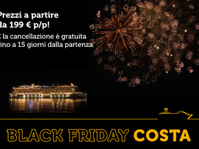 Black Friday con Costa Crociere