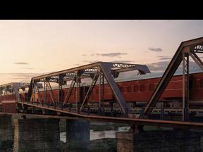 Kruger Shalati - Il treno sul ponte con Turisanda