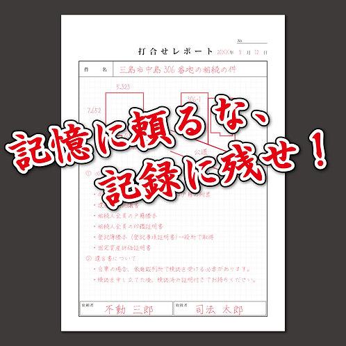 打合せレポート(2枚複写)[メール便 ◯]