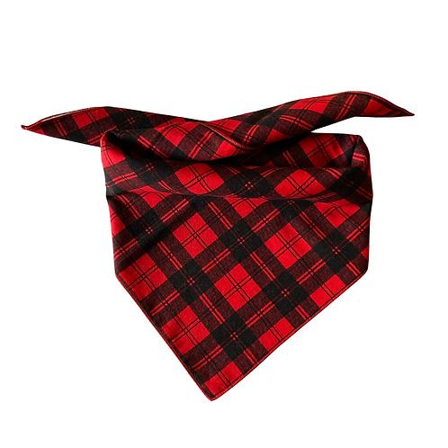Black & Red Plaid Dog Bandana