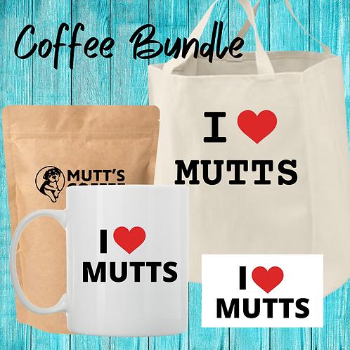 Coffee Bundle- Includes 1 tote bag, 1 sticker, 1 coffee mug, 1 bag of coffee