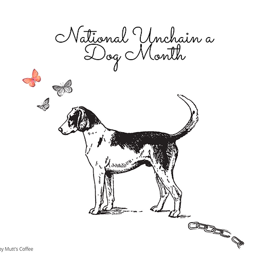 """Postcard- """"National Unchain a Dog Month"""""""