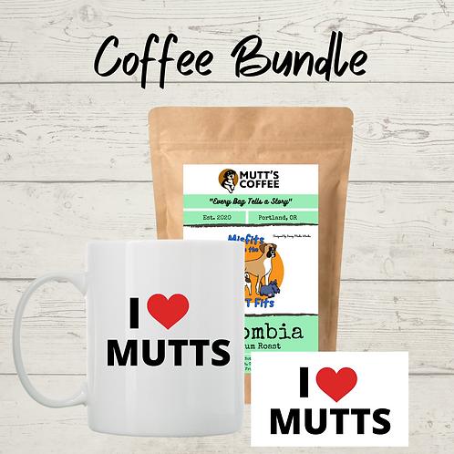 Coffee Bundle- Includes (1) sticker, (1) coffee mug, (1) bag of coffee