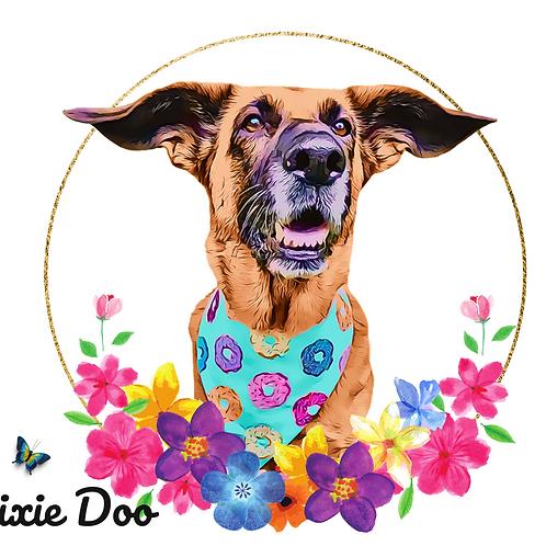 Postcard- #6 Dixie Doo