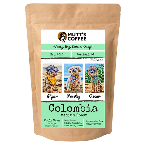 Coffee- Colombia Medium Roast (1 Bag Option, Shipping & Local Delivery Included)