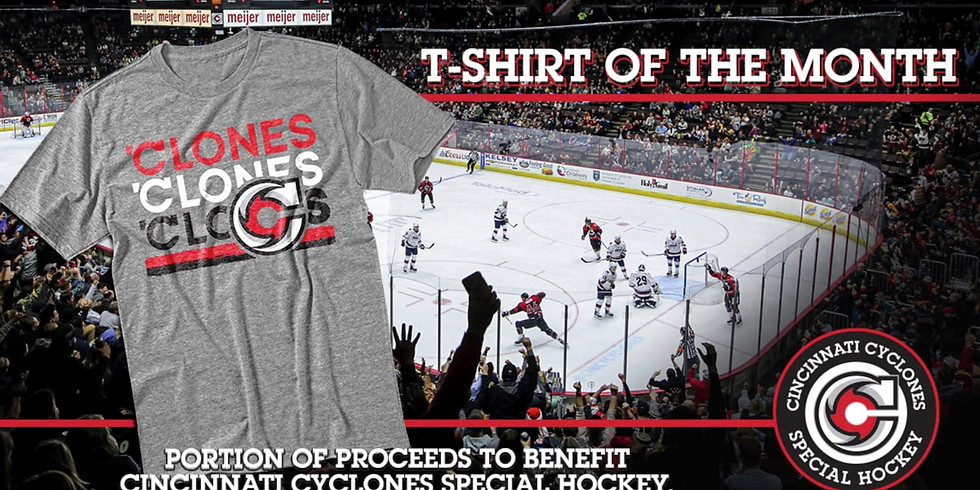 Cincinnati Cyclones Foundation T-Shirt of the Month