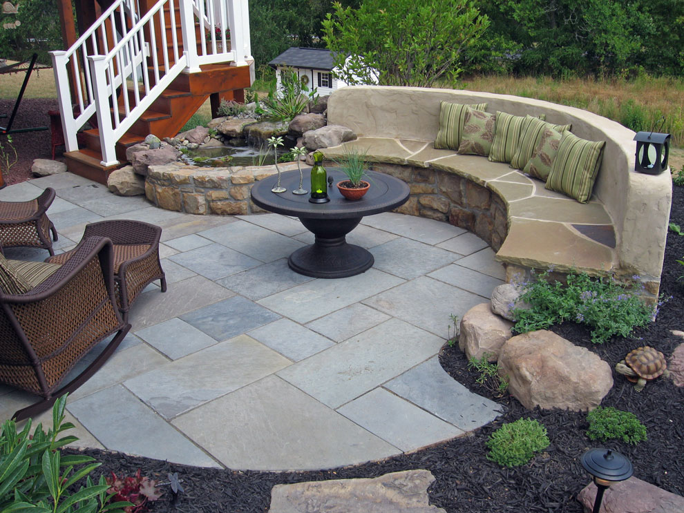 Paver-Patio-with-a-Stone-Bench