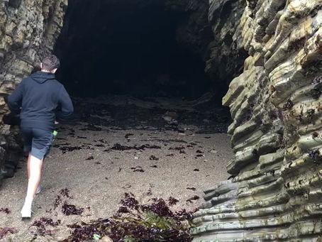 Sea cave!