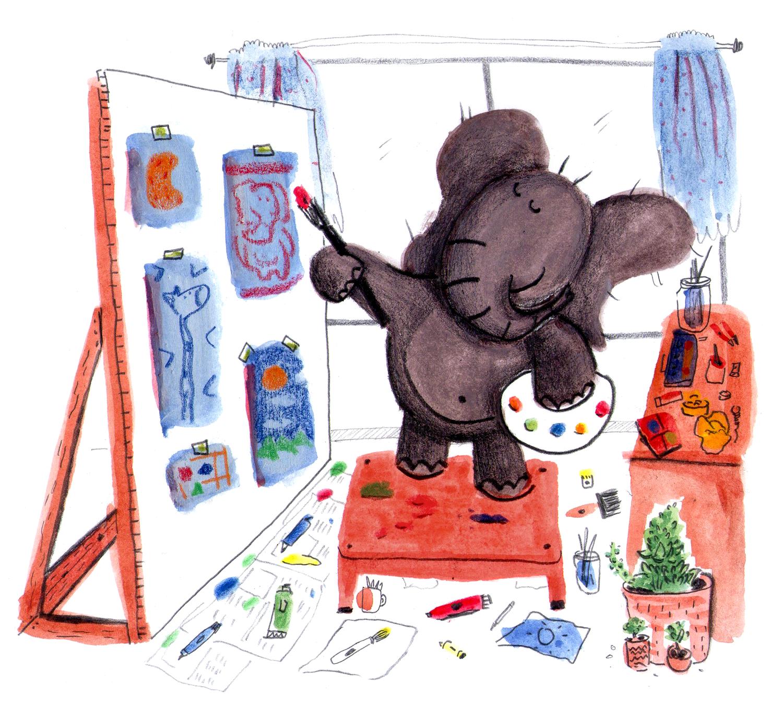 Elefante dibujando