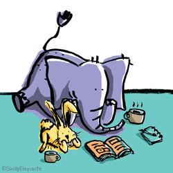 Elephant and rabbit.