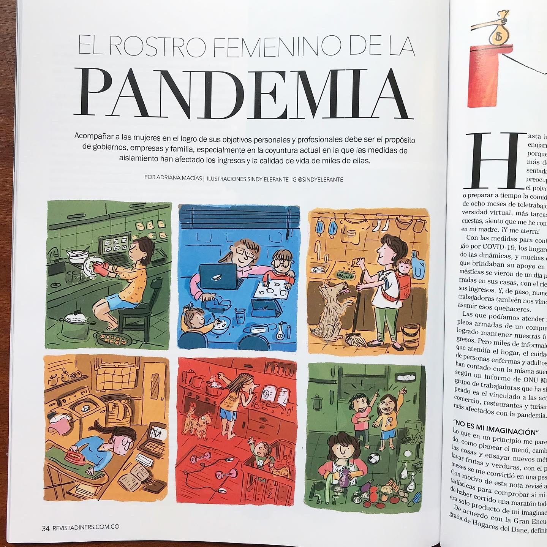 Revista Diners. Ilustración editorial.
