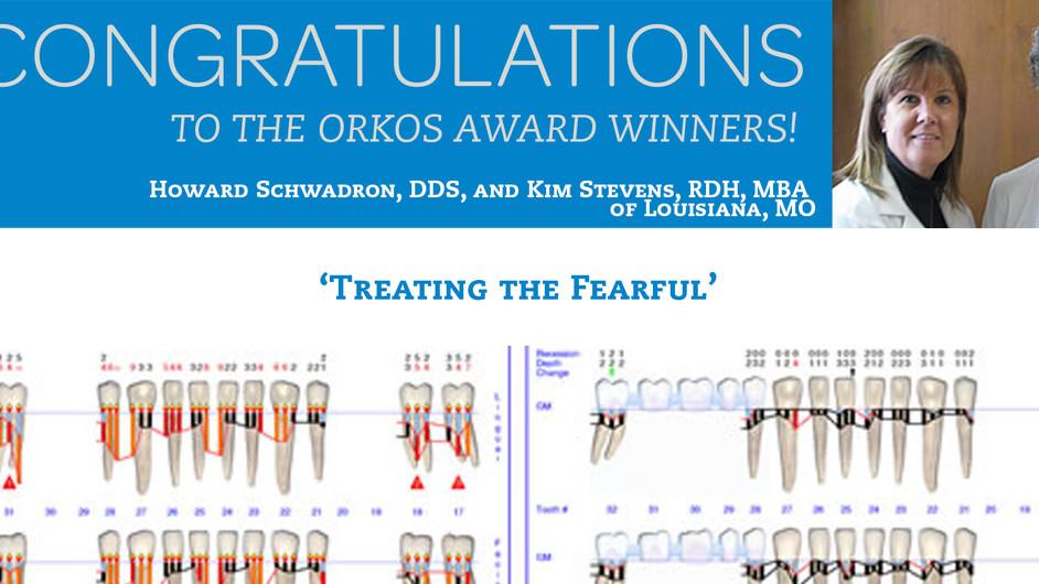 December 2011 Award Winners - Dr. Howard Schwadron & Kim Stevens RDH