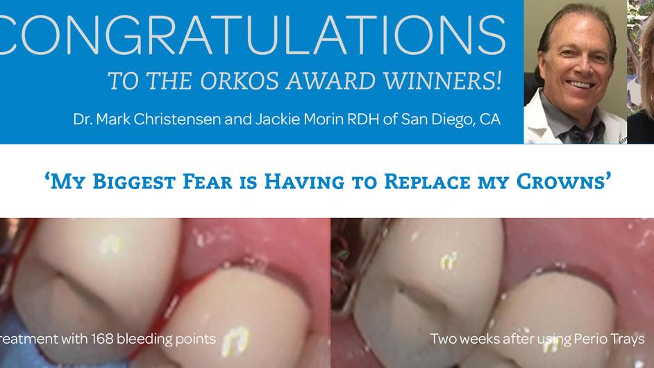 January 2017 Award Winners - Dr. Mark Christensen & Jackie Morin RDH