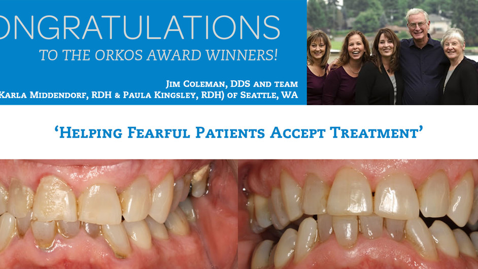August 2012 Award Winners - Dr.Jim Coleman & team (inc. Karla Middendorf RDH & Paula Kingsle