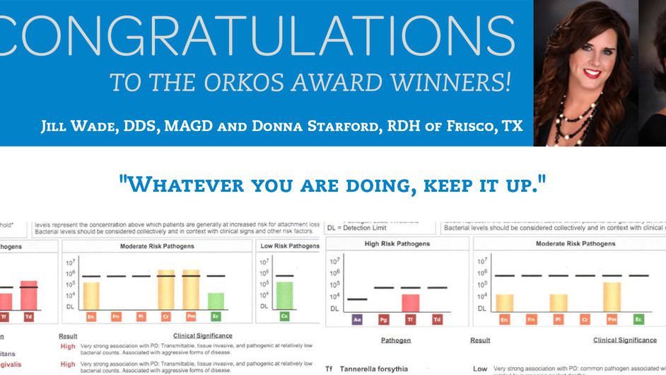October 2013 Award Winners - Dr. Jill Wade & Donna Starford RDH