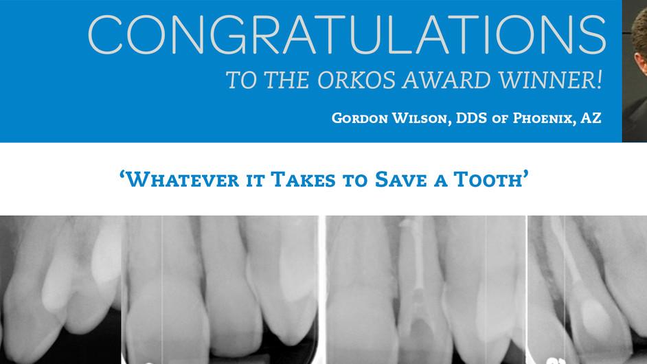 December 2011 Award Winner - Dr. Gordon Wilson