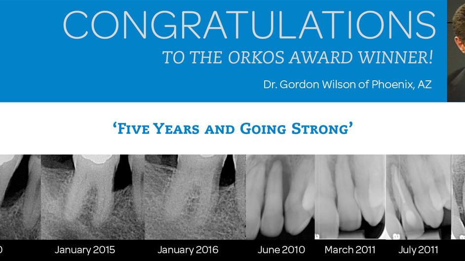 November 2016 Award Winner - Dr. Gordon Wilson