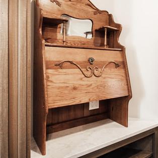 650th Avenue Custom Antique Shelf Build-In