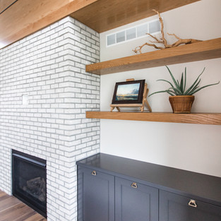 5438 Windrose Spec Living Room Fireplace Shelves