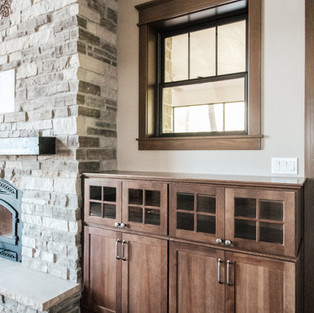 650th Avenue Living Room Fireplace Cabinets