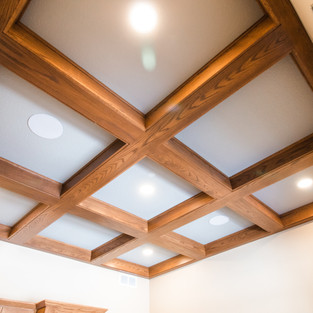 227th Place Study Ceiling Beams