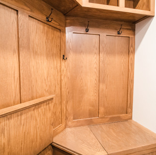 227th Place Mudroom Bench Hidden Compartment